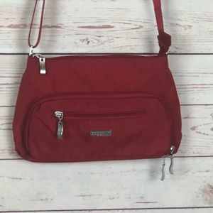 Baggallini Red Crossbody Purse W/ Built on wallet